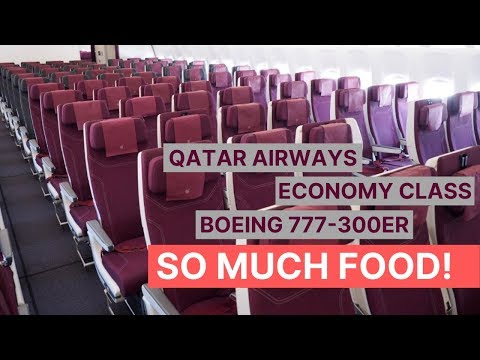 SO MUCH FOOD on Qatar Airways' 777-300ER Economy Class