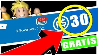 HOW TO HAVE YOUR FIRST 30 ROBUX FREE!!! 2017