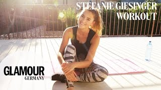 Bauch Beine Po-Workout mit Stefanie Giesinger I Summer Training I GLAMOUR Fitness Motivation 💪🏼💫