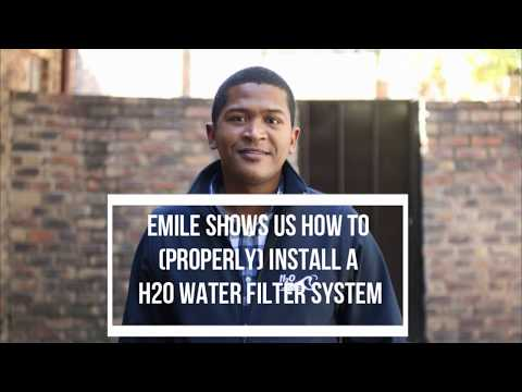 How to install an H20 International Water Filter System