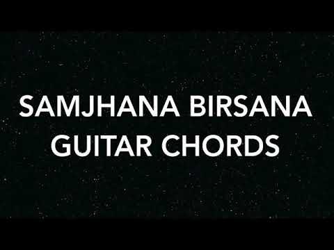 samjhana birsana Guitar chords - easy mode - YouTube