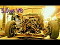 IT FITS!! 5.0L H.O. with A4OD Installed(PART 7) 1947 ford pickup rat rod build
