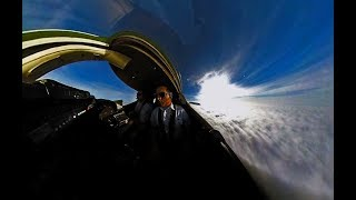 Approach into Winnipeg in Learjet in 360 - Insta360 One
