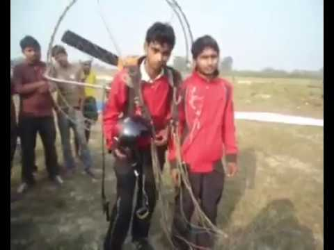 Youth scientist in Nepal make the paramoter ( sky flaying machine ) Dhanusha, Nepal.