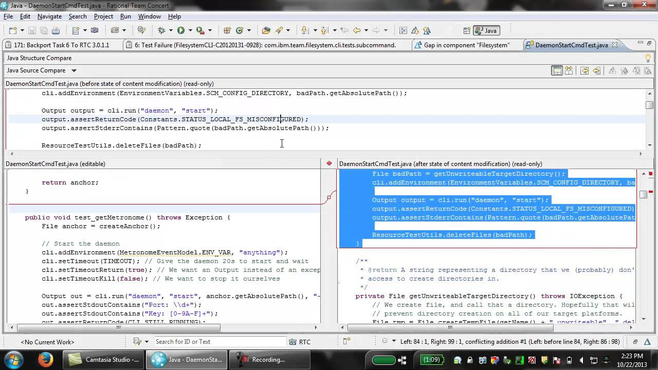 Accepting a change set with a gap in the RTC 4 0 5 client for Eclipse IDE