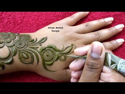 Stylish And Beautiful Arabic Mehndi Design Easy Mehndi