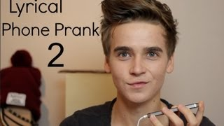 Lyrical Phone Prank 2 | ThatcherJoe