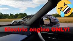 Porsche Panamera Turbo S E-Hybrid vs BMW 330e Electric Only E-Launch Control [4k]