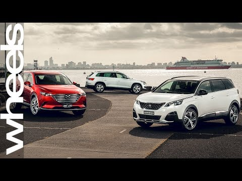 Mazda CX-9 V Skoda Kodiaq V Peugeot 5008 Comparison Review | Wheels Australia