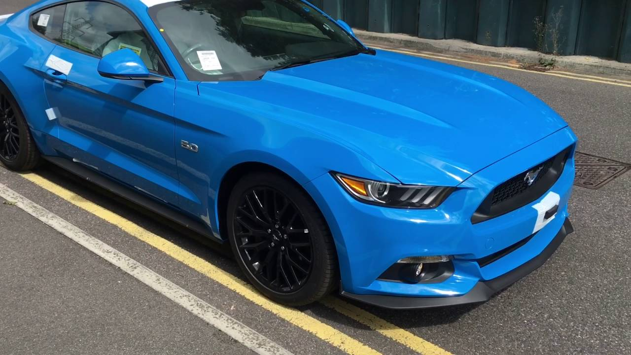 2017 Grabber Blue Mustang Gt Pre Delivery Check Youtube