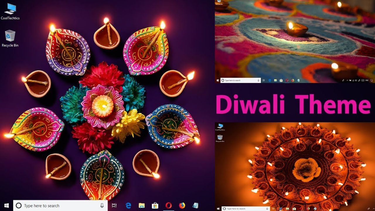 Diwali Theme for Windows 10 by Microsoft || Diwali-theme Wallpaper for Windows 10