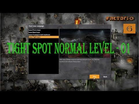 Factorio tight spot. Normal. level 01