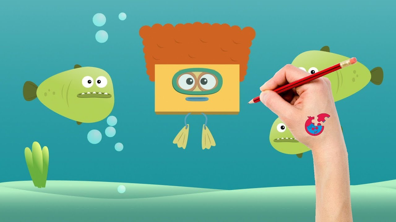 Drawing And Coloring Big Block Sing Song For Toddlers - Diver ...
