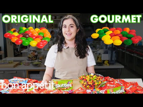 Pastry Chef Attempts To Make Gourmet Skittles | Gourmet Makes | Bon Apptit
