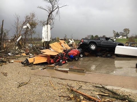 Tornado in Celina, Mercer County , severe weather in ,Ohio, USA, storm , winds,