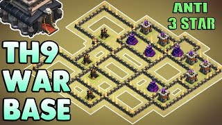 Town Hall 9 ( TH9 ) War Base 2017 | ANTI 3 STAR / ANTI EVERYTHING | With Replays | Clash Of Clans