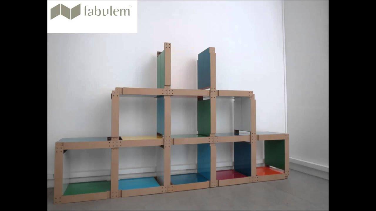 meuble en carton facile et rapide. Black Bedroom Furniture Sets. Home Design Ideas