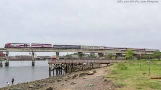 [HD] MBTA Private Car Extra Crossing Mystic River