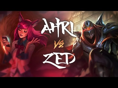 LOOK AT THE MOVES! - AHRI vs Zed - League of Legends Commentary