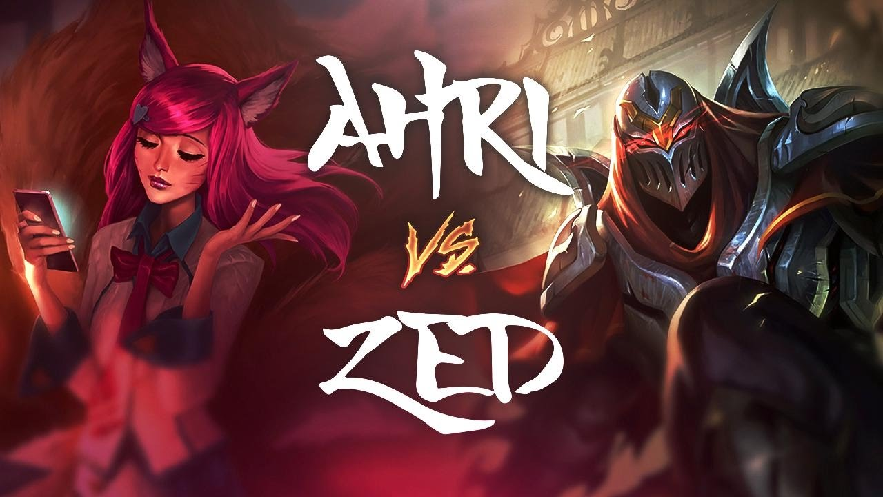 AHRI vs Zed - League of Legends Commentary - YouTube