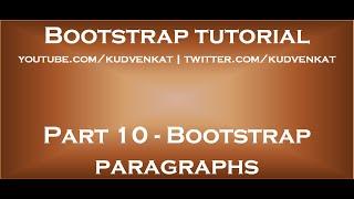 Bootstrap paragraphs