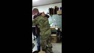 Soldier comes home early for Christmas, surprises father at his workplace in Hillsboro