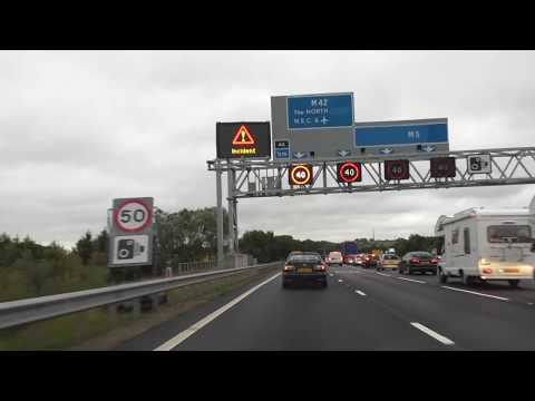 Driving On The M5, M42 & M6 Motorways From Worcester To Catthorpe Interchange, UK