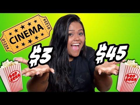 CINEMA DE R$ 3,00 X CINEMA DE R$ 45,00