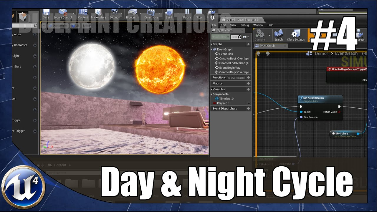 Creating a day and night cycle 4 unreal engine 4 blueprint creating a day and night cycle 4 unreal engine 4 blueprint creations youtube malvernweather Image collections