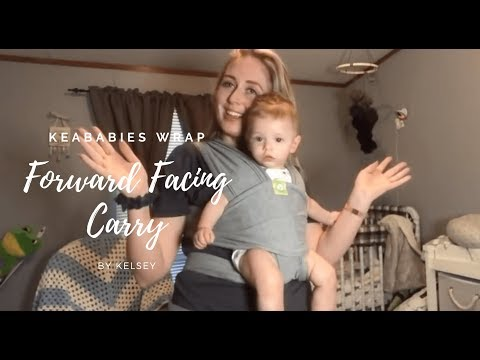 Baby Wrap Carrier Front Facing And Basic Tie Tutorial By Keababies