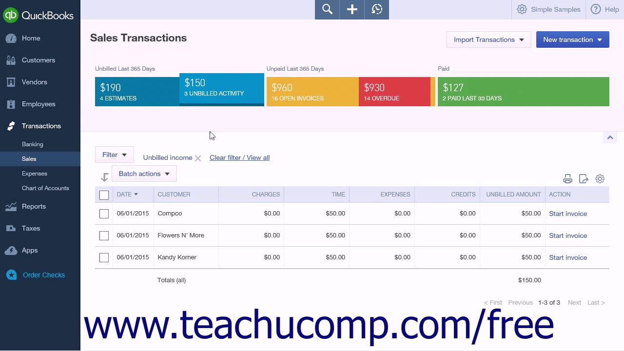 QuickBooks Online Plus 2015 Tutorial Creating Batch Invoices Intuit  Training   YouTube  Create Invoices Online