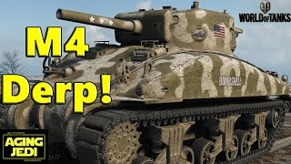 M4 With Derp - 1 vs 5 - World of Tanks