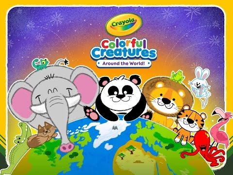 """Crayola Colorful Creatures """"Budge Casual Education"""" Learning Animals Game Videos"""