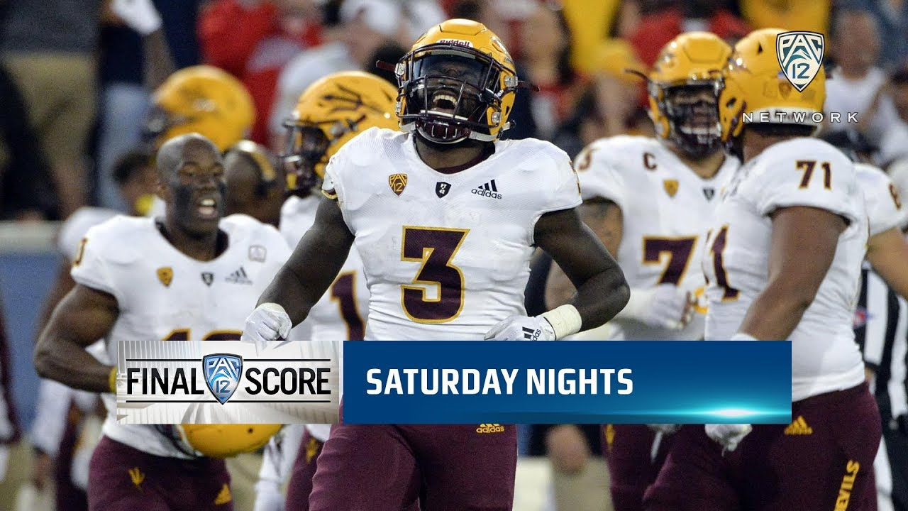 Uofa Football Score >> Highlights Arizona State Football Bounces Back From 19 Point Deficit To Defeat Asu