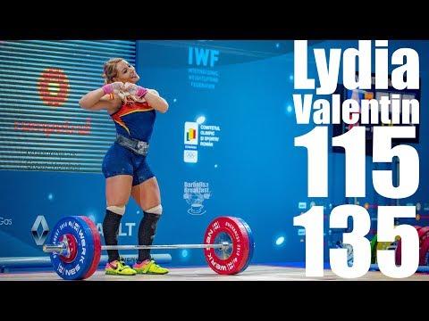 Lydia Valentin (75kg Spain) 115kg Snatch 135kg Clean and Jerk - 2018 European Champion