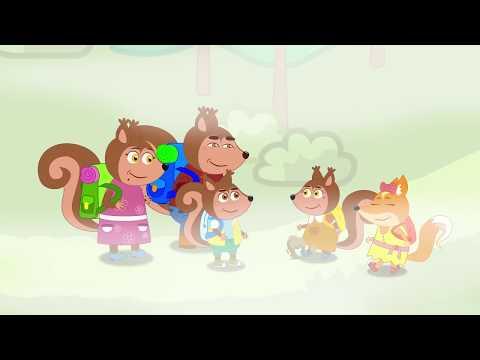 Squirrel Family New cartoon for kids | Familia de ardillas en Español Capítulo nuevo para niños #41