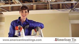 Installing Drop-In Tin Ceiling Tiles (3/3)