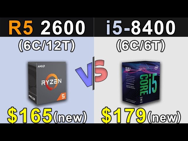 R5 2600 Vs. i5-8400 | New Games Benchmarks