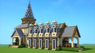 Minecraft: How To Build A Large Mansion House Tutorial ( 2019 )