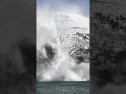 Watch the Incredible Power of a Controlled Avalanche in Juneau, Alaska