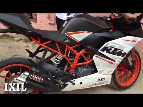 KTM RC 390 200 modified Exhaust Sound Akrapovic, Yoshimura Arrow