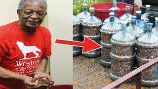 Seit 1970 sammelte er Münzen, 45 Jahre später brachte er sein Geld zur Bank!