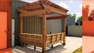 Custom Pergola with Benches - Freedom Outdoor Living, San Antonio Texas