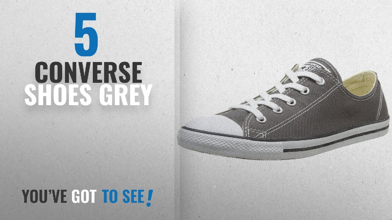 ad053a4ef9734 Top 5 Converse Shoes Grey [2018]: Converse Women's Chuck Taylor Dainty Ox  Sneakers - Charcoal -
