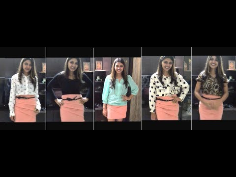 What To Wear With A Peach Skirt Youtube