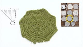 How to crochet coaster 7 in DROPS Extra 0-1403