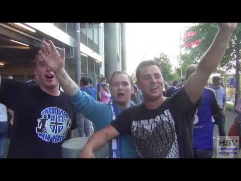 Immer wieder HSV...! HSV Fans von Fehmarn singen im Trio