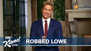 Rob Lowe's Guest Host Monologue on Jimmy Kimmel Live