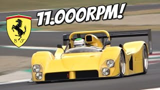 11.000rpm Ferrari 333 SP with N/A V12 Engine! - Amazing Sound at Mugello Circuit!