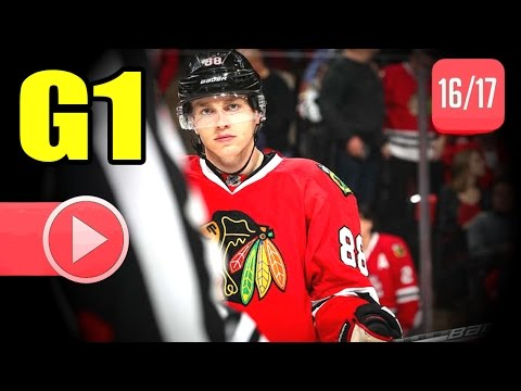 Nashville Predators vs Chicago Blackhawks. 2017 NHL Playoffs. Round 1. Game 1. 04.12.2017 (HD)